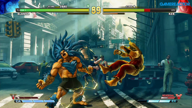 Blanka en action dans Street Fighter V: Arcade Edition