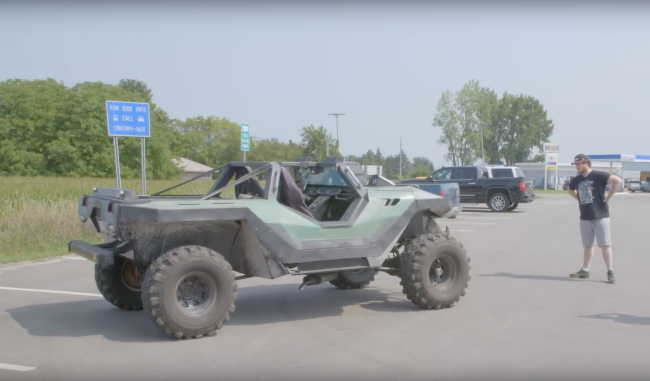 Halo : Un véritable Warthog construit par un fan !