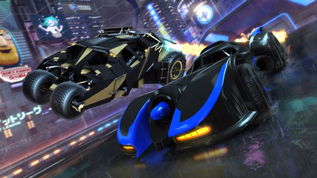 Deux versions de la Batmobile débarquent sur Rocket League