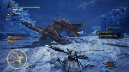 Monster Hunter: World - Iceborne - Tigrex Hunt Gameplay