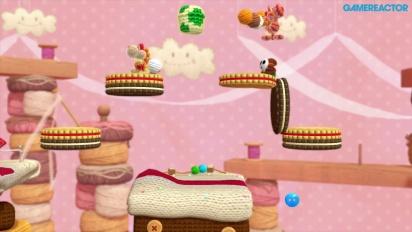 Yoshi's Woolly World - World 3 Co-op Gameplay (3-1, 3-2)