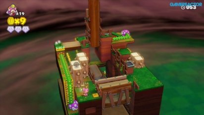 Captain Toad: Treasure Tracker: Mission 2-2 Stumper Sneakaround Gameplay