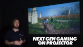 Next Gen Gaming on Projector - BenQ TH585 DLP Projector - Quick Look