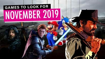Les Jeux à ne pas manquer - Novembre 2019