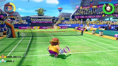 Mario Tennis Aces - Wario vs Rosalina Pro Gameplay