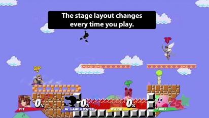 Super Smash Bros. for Wii U and 3DS - Super Mario Maker Level Trailer