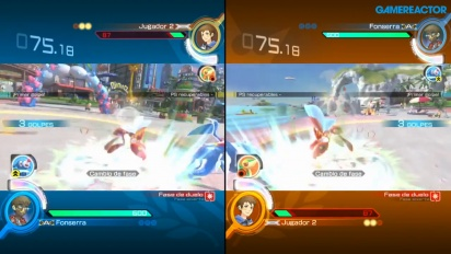 Pokkén Tournament DX - Gameplay en écran splitté