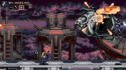 Blazing Chrome - Stage 4-1 Gameplay