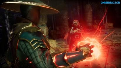 Mortal Kombat 11 - Du gameplay avec Raiden, Baraka et Skarlet