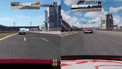 Forza Motorsport 7 vs Project CARS 2 vs Forza 6 - Comparaison visuelle