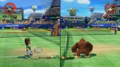 Mario Tennis Aces - Split-screen Multiplayer Gameplay