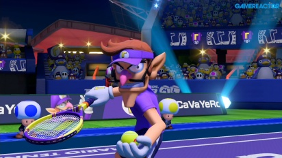 Mario Tennis Aces - Waluigi vs Yoshi Demo Gameplay