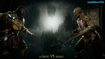 Mortal Kombat 11 - Scorpion vs. Baraka Reveal Event Gameplay